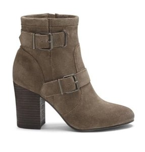 Vince Camuto Suede High Heel Riding Equestrian Taupe Gray Boots