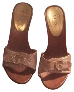 Guess By Marciano Gold Mules