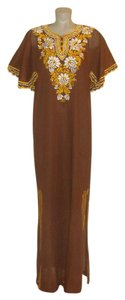 Brown Maxi Dress by