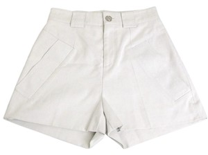 Gucci Cotton Silk Shorts Light Gray