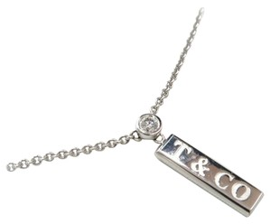Tiffany & Co. Tiffany&Co 1837 Diamond Pendant Necklace 18K White Gold