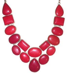 Colorado Estes Park Fine Jewelry Ruby Red Coral Statement Necklace