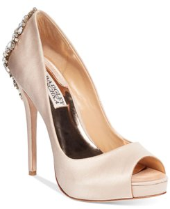 Badgley Mischka Latte Satin Formal