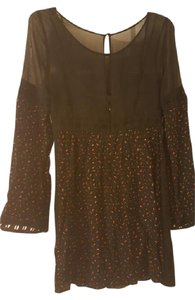 Free People short dress Black Sheer Bell Sleeve Crochet Babydoll A-line on Tradesy