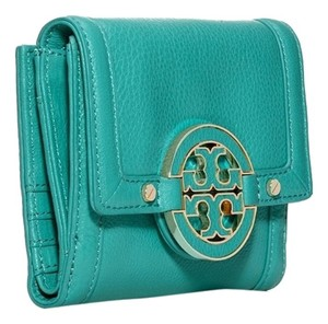Tory Burch NEW TORY BURCH AMANADA FRENCH WALLET ELECTRIC