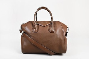 Givenchy Grained Leather Medium Antigona Satchel in Brown