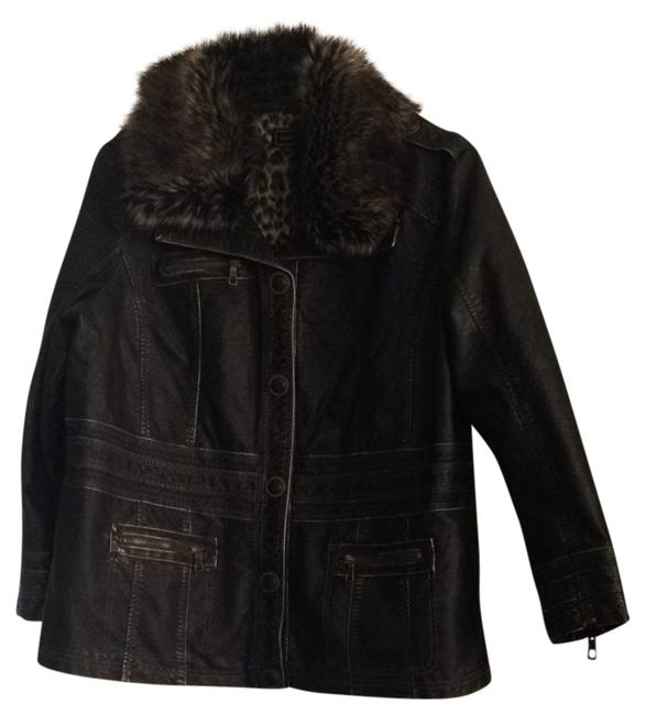 Item - Black Cool Motorcycle Jacket Size 22 (Plus 2x)