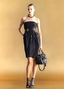 Gucci short dress Black Strapless Tie Bamboo on Tradesy