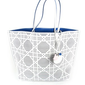 Dior 2015 Perforated Tote in White