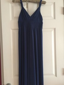 Blue Maxi Dress by Max and Cleo Grecian Empire Waist