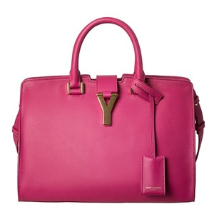Saint Laurent Pink Cabas Ysl Small Cabas Shoulder Bag