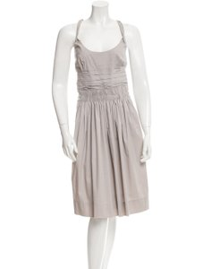 Prada short dress Grey Cotton on Tradesy