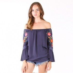 Vava by Joy Han Kacie Top Navy