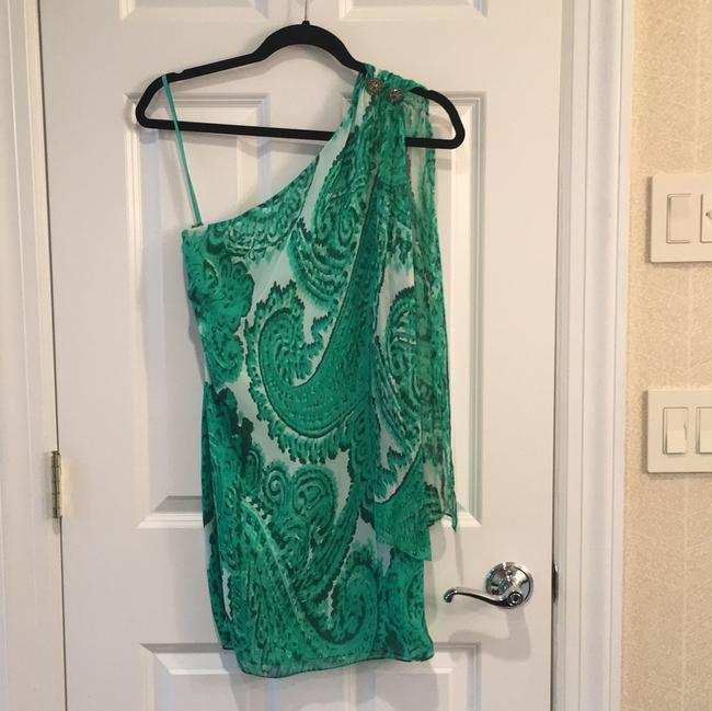 Item - Green/White Short Night Out Dress Size 0 (XS)