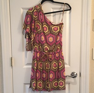 MILLY short dress Purple/Pink/Yellow/Brown on Tradesy
