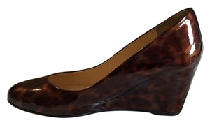 Christian Louboutin Wedge Leather Patent Tortoise Shell Wedges
