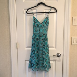 MILLY short dress Turquoise/Blue/White on Tradesy