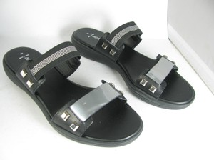 Aquatalia by Marvin K. black/ silver Sandals