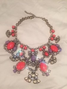 J.Crew J. Crew Crystal Color Stone Statement Necklace