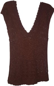 Banana Republic Crochet Sleeveless V-neck Woven Sweater