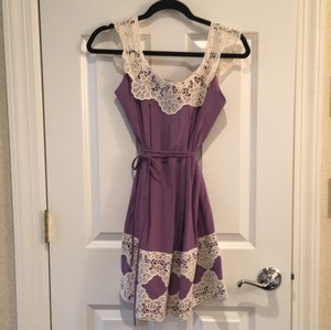 MILLY short dress Purple/White on Tradesy