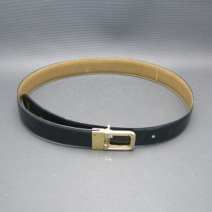 Gucci gucci belt Leather reversible Black tan GG