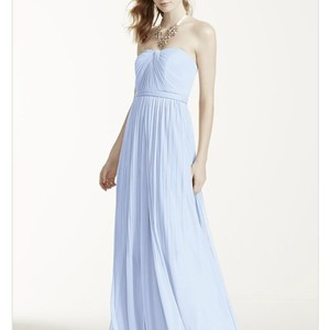 David's Bridal Ice Blue Dress