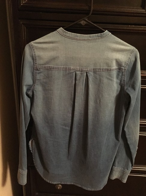 Vince Denim Tunic Classic Casual Pull Over Top