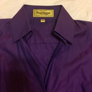 Paul Stuart Button Down Shirt Violet