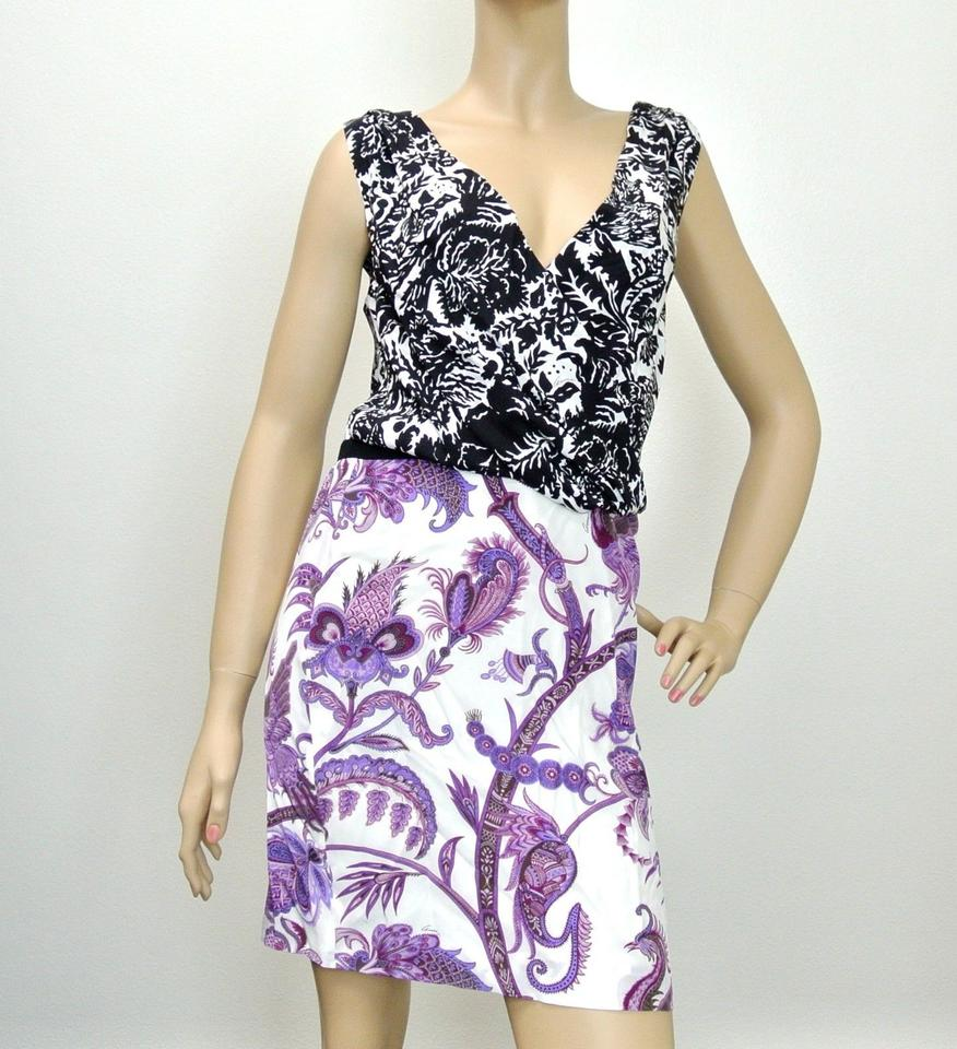 397c23e55 Gucci Multi-color New Runway Silk Floral V-neck 44 284032 Knee Length Short  Casual Dress Size 12 (L) - Tradesy