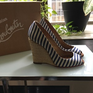 Christian Louboutin Blue and white Wedges