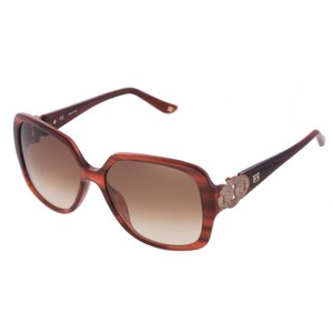 Escada New ESCADA SES 270 6DB WomenHavana Brown Square Oversized Sunglasses