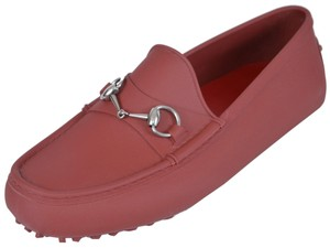 Gucci Men's Loafers Loafers Red Flats