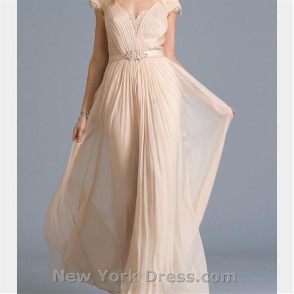 Tadashi shoji white silk and chiffon formal wedding dress Wedding dress xs