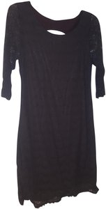 Free People 3/4 Sleeve Shimmery Bodycon Open Holiday Dress