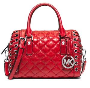 Michael Kors Sophie Grommet Hippie Red Satchel in Dark Red