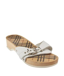Burberry Leather White Sandals
