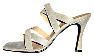 Maraolo Suede Strappy New Vintage Size 8 Silver Sandals