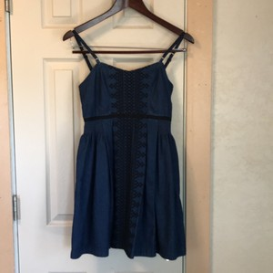 Free People short dress Denim on Tradesy