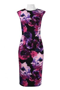 London Times Floral Sheath Dress