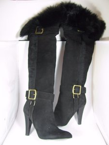 Coach 'mazur' Over-the-knee Fur-lined black Boots