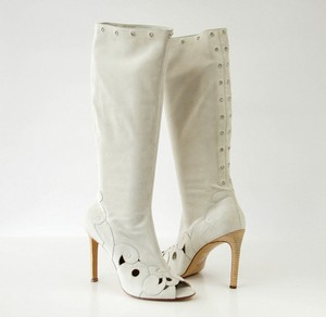 Versace Gianni Boot Pale Gray Boots