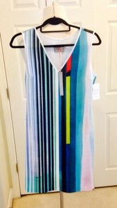 Clover Canyon short dress New With Tags Scuba Striped on Tradesy