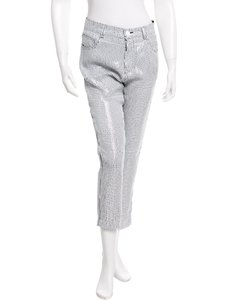 Sandro Sequin White Embellished Capri/Cropped Pants
