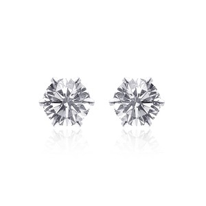 Avital & Co Jewelry 0.55 Carat Diamond Stud Earrings 14k White Gold Martini Setting