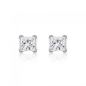 Avital & Co Jewelry 1.50 Carat Diamond Solitaire Stud Earrings 14k White Gold