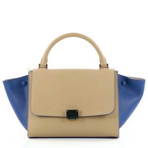 Céline Celine Leather Tote in Bicolor