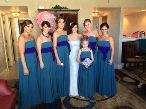 Alfred Angelo Teal And Purple See Photos Dress