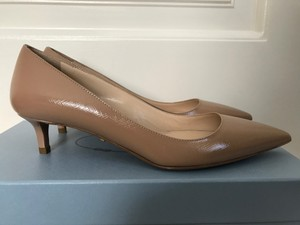 Prada Patent Leather Nude Pumps