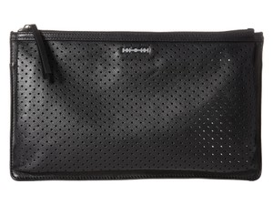MCQ by Alexander McQueen Perforated Leather Black Clutch